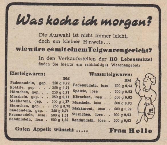 16_Der Handel_05_1955_Nr15_p22_DDR_Einzelhandel_Werbung_Nudeln_HO_Frau-Helle_Kochtopfmethode