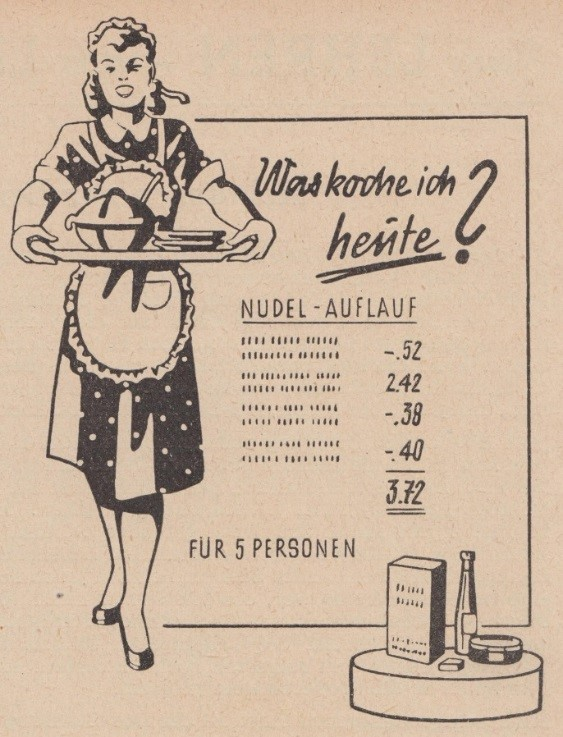 17_Die Waage_1952_p059_DDR_Einzelhandel_Werbemittel_Erfurt_Elfriede-Maurer_Kochtopfmethode
