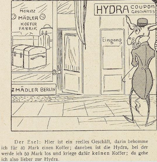 10_Lustige Blätter_14_1899_Nr32_p06_Schneeballsystem_Hydra_Koffer_Konsument_Kommerzialisierung