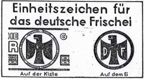11_Landfrau_1930_Nr11_p5_Eier_Markenartikel_Frischei_Kennzeichnung