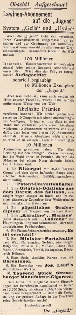 17_Jugend_04_1899_p520_Schneeballsystem_Abonnement_Gella-Hydra-Handel