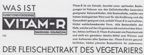 04_Vegetarische Warte_62_1929_p109_Hefextrakt_Fleischersatz_Vitam-R_Vegetarischer-Brotaufstrich