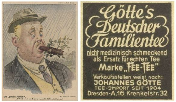 09_Lustige Blätter_33_1918_Nr27_Wiener Illustrierte_61_1942_06_17_Nr24_p8_Ersatzmittel_Tabakersatz_Teeersatz_Deutscher-Tabak_Deutscher-Tee