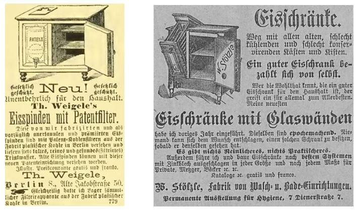 16_Über Land und Meer_40_1879_p644_Allgemeine Zeitung_1901_12_31_Nr369_p04_Eisschrank_Kühlung