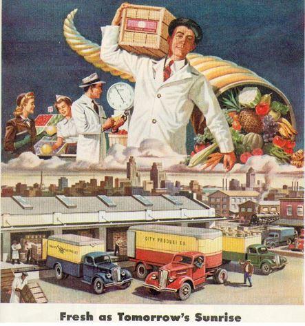 31_Times_1947_Nr12_p43_Frische_Absatzkette_Lebensmittelversorgung_Lastwagen