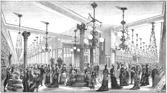004_Illustrirte Zeitung_078_1882_p269_Kaufhaus_Rudolph-Hertzog_Verkaufsräume_Gasbeleuchtung