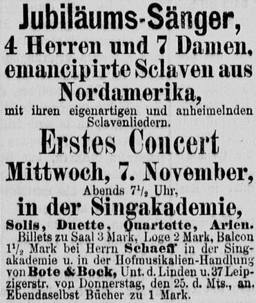 006_Deutsches Montags-Blatt_1877_10_29_p06_Unterhaltungsindustrie_Konzert_Sklaven_Spirituals_Sklavenemanzipation