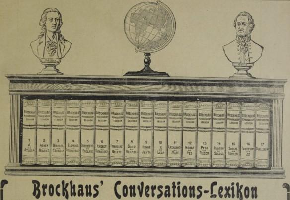 016_Das interessante Blatt_24_1905_04_17_Nr14_p17_Konversationslexikon_Brockhaus_Goethe_Schiller_Globus