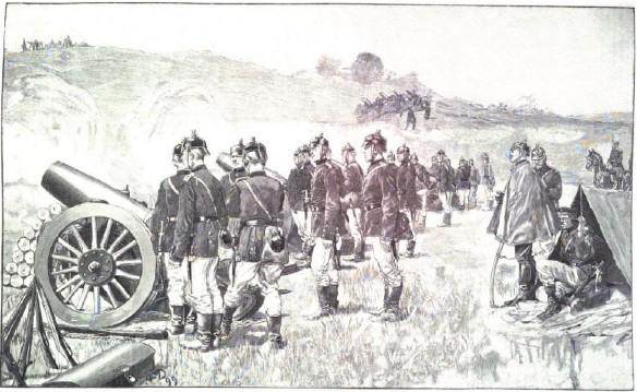 026_Illustrirte Zeitung_113_1899_p211_Militär_Artillerie_Haubitze_Fetthenne