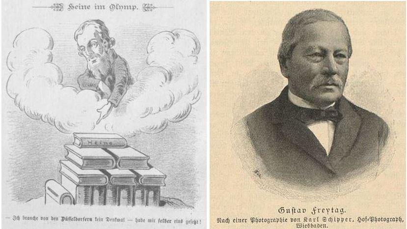038_Kikeriki_33_1893_02_05_Nr11_p02_Heinrich-Heine_Illustrirte Frauen-Zeitung_22_1895_p089_Gustav-Freytag