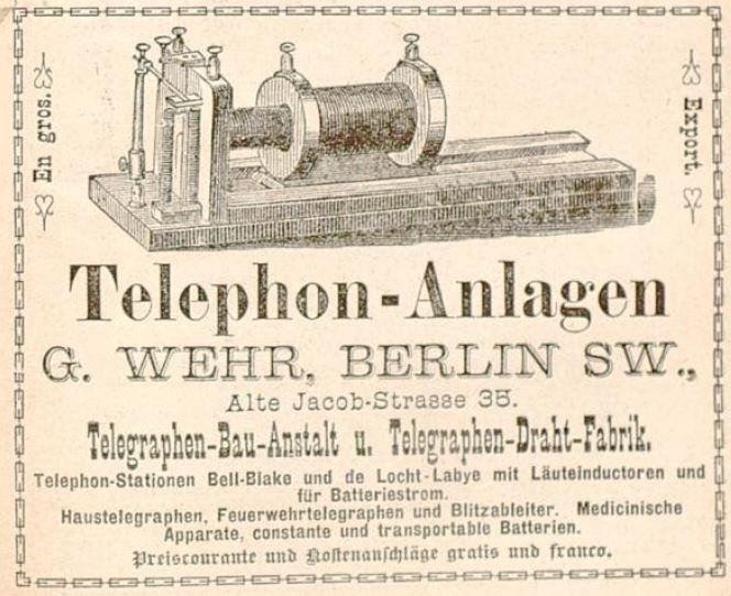 040_Katalog_1883_Annoncen_p119_Telephon_G-Wehr