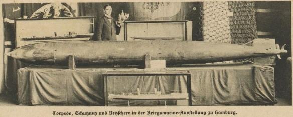 041_Illustrierte Weltschau_1914_Nr06_p02_Marine_Ausstellung_Torpedo_Torpedonetz_Hamburg