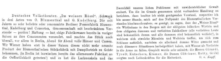 048_Oesterreichische Musik- und Theaterzeitung_11_1898-99_Nr05_p2-3_Theater_Schwank_Im-weissen-Rössl_Oskar-Blumenthal_Gustav-Kadelburg