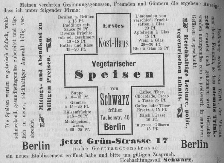 053_Vereins-Blatt für Freunde der natürlichen Lebensweise_17_1884_p2658_Vegetarismus_Restaurant_Schwarz_Speisen