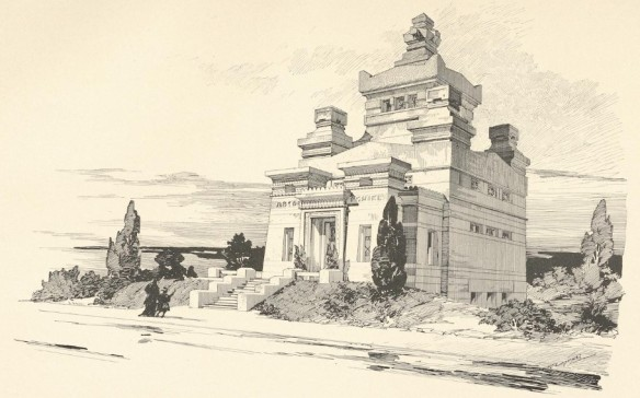 058_Architektonische Rundschau_14_1898_Taf68_Feuerbestattung_Kolumbarium_Krematorium_Dresden_Richard-Michel