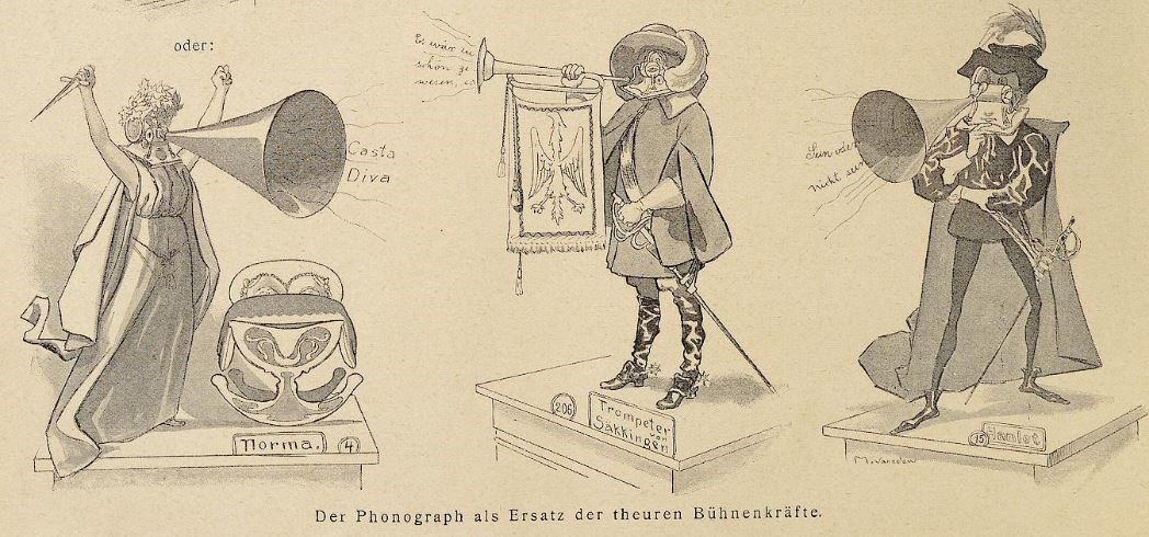 059_Lustige Blaetter_14_1899_Nr23_p08_Theater_Schauspieler_Phonograph
