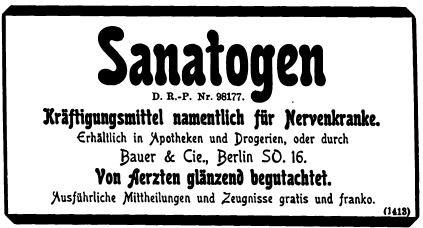 072_Illustrirte Zeitung_113_1899_p487_Kräftigungsmittel_Eiweißpräparate_Sanatogen_Bauer