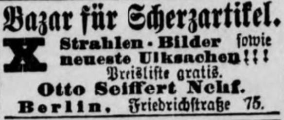 075_Volks-Zeitung_1896_05_11_Bazar_Scherzartikel_Röntgenstrahlen_Otto-Seiffert