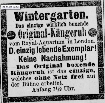 081_Berliner Börsen-Zeitung_1893_03_22_Nr137_p20_Unterhaltungsindustrie_Wintergarten_Boxen_Känguru