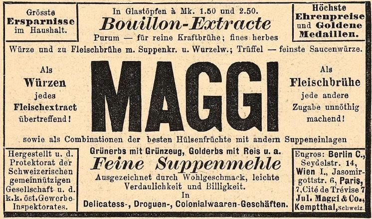 086_Fliegende Blaetter_088_1888_Nr2224_p11_Suppenpräparate_Würzen_Maggi_Suppenmehle_Boullionextrakt