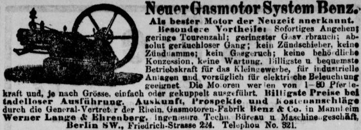 089_Berliner Tageblatt_1886_01_31_Nr055_p22_Maschinenbau_Gasmotor_Benz_Mannheim