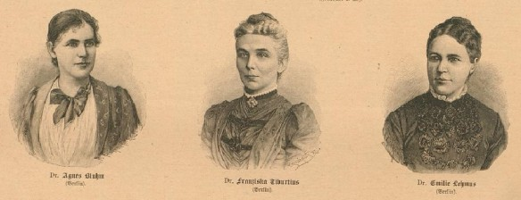 091_Der Bazar_39_1893_p384_Frauenemanzipation_Frauenstudium_Medizin_Agnes-Bluhm_Franziska-Tiburtius_Emilie-Lehmus