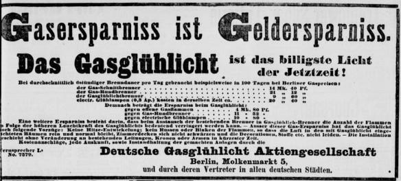096_Berliner Tageblatt_1893_11_05_Nr565_p11_Beleuchtungsartikel_Gaslicht_Gasglühlicht_Auerlicht