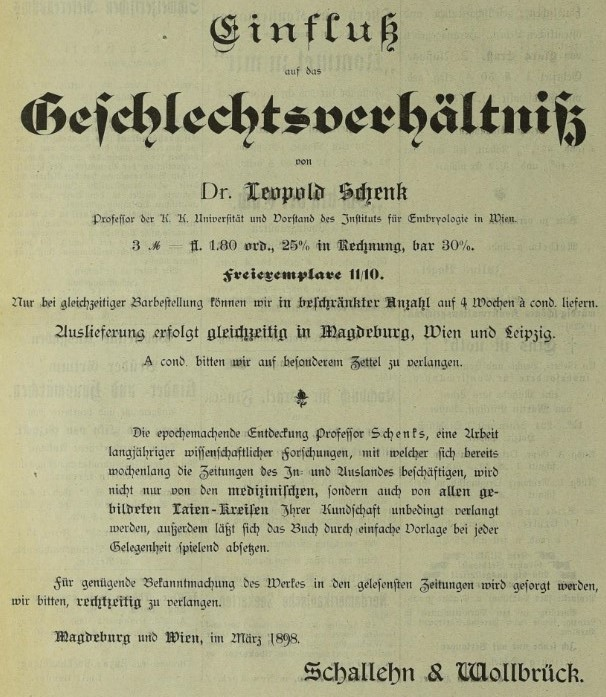 100_Börsenblatt fuer den Deutschen Buchhandel_065_1898_03_22_Nr066_p2220_Bücher_Embryologie_Leopold-Schenk_Geschlecht_Schallehn-Wallbrück