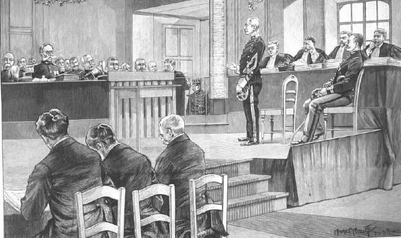 103_Illustrirte Zeitung_113_1899_p210_Frankreich_Militärgericht_Dreyfus-Affäre_Alfred-Dreyfus