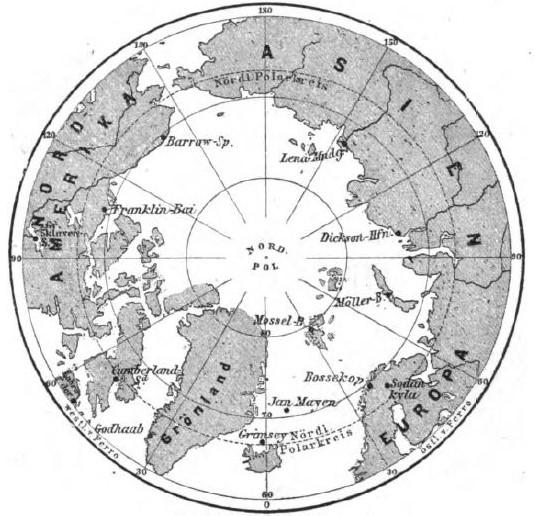 106_Illustrirte Zeitung_078_1882_p516_Polarforschung_Nordpol_Polarstationen_Karte