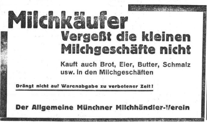 1_Illustrierter Sonntag_01_1929_08_18_Nr21_p4_Ladenschluss_Milchhandel_Einkaufen_Mittelstand_Muenchen