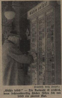 3_Das kleine Blatt_1939_04_22_Nr110_p6_Automat_Verkaufsautomat_Wien_Selbstbedienung