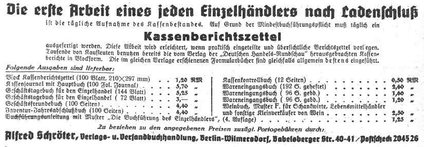 5_Deutsche Handels-Rundschau_32_1939_p314_Einzelhandel_Buchführung_Ladenschluss_Buerokratie_Statistik_Alfred-Schröter
