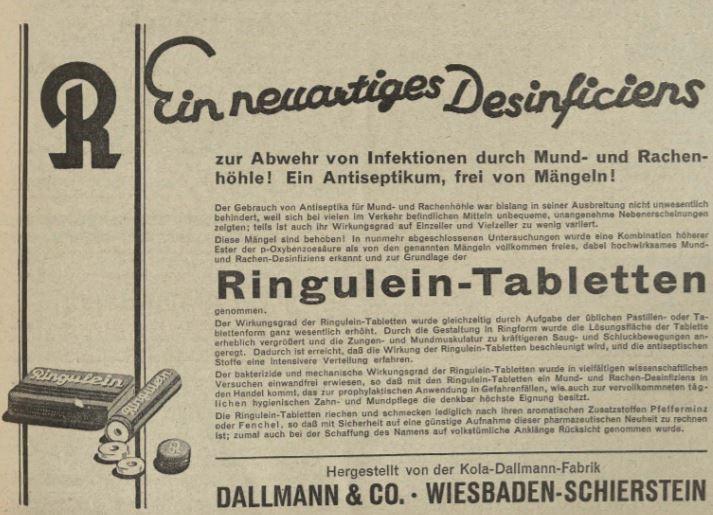 05_Deutsche Apotheker-Zeitung_48_1933_Nr82_sp_Antiseptikum_Ringulein_Grippe_Dallmann_Schierstein