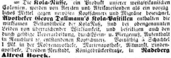 11_Dresdner Nachrichten_1889_03_16_Nr075_p4_Kolanuss_Kola-Pastillen_Dallmann