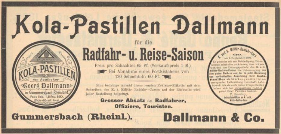 14_Süddeutsche Apotheker-Zeitung_37_1897_p562_Kola-Pastillen_Dallmann_Gummersbach_Schutzmarke