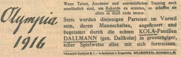 24_Badische Presse_1914_04_08_Nr165_p8_Kola-Dallmann_Doping_Olympiade