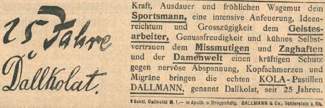 29_Badische Presse_1914_05_27_Nr243_p8_Kola-Dallmann_Dallkolat