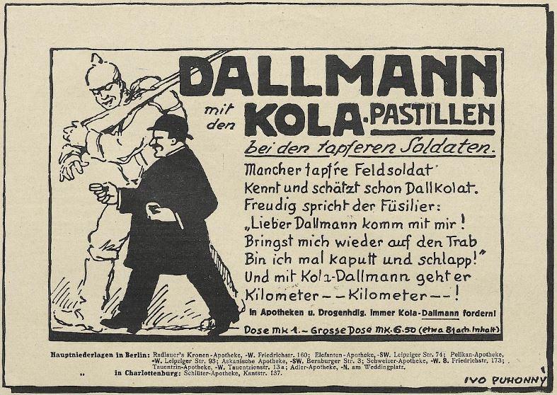 31_Lustige Blätter_31_1916_Nr31_p15_Kola-Dallmann_Dallkolat_Soldaten_WKI_Marschieren