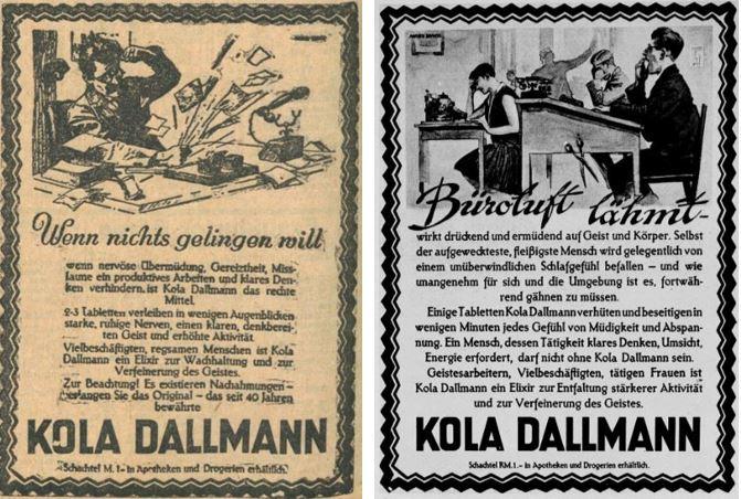 36_Karlsruher Tagblatt_1929_06_18_Nr167_p8_Kola-Dallmann_Angestellte_Welt-Spiegel_1928_04_29_p8_Büro_Müdigkeit