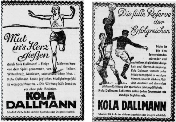 39_Berliner Tageblatt_1928_08_28_Nr396_p11_Kola-Dallmann_Sport_Leichtathletik_Ebd_1928_07_10_Nr321_p15_Fußball_Doping