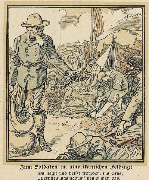 1_Lustige Blaetter_14_1899_Nr12_p08_USA_Militaerverpflegung_Amerikanisch-spanischer-Krieg
