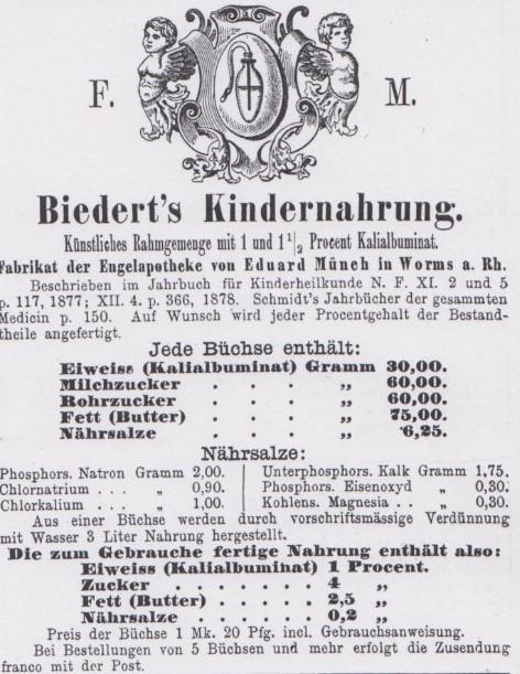 05_Berliner klinische Wochenschrift_17_1880_vorp237_Saeuglingsernährung_Biedert_Rahmgemenge_Kindernahrung