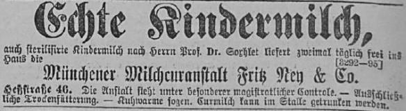07_Allgemeine Zeitung 1882_02_24_p816_Saeuglingsernaehrung_Kindermilch_Milchkuranstalt_Soxhlet_Muenchen