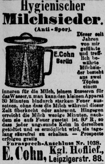 08_Berliner Tageblatt_1886_01_31_Nr055_p22_Haushaltsgeraete_Milchkocher_Bakterien