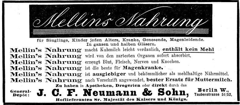 16_Ueber Land und Meer_081_1898-99_Nr05_sp_Saeuglingsernaehrung_Kindernaehrmittel_Mellin_Amerikanisierung