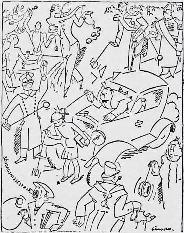 03_La Lutte Syndicale_1933_04_08_Nr14_p2_Jo-Jo_Straßenverkehr