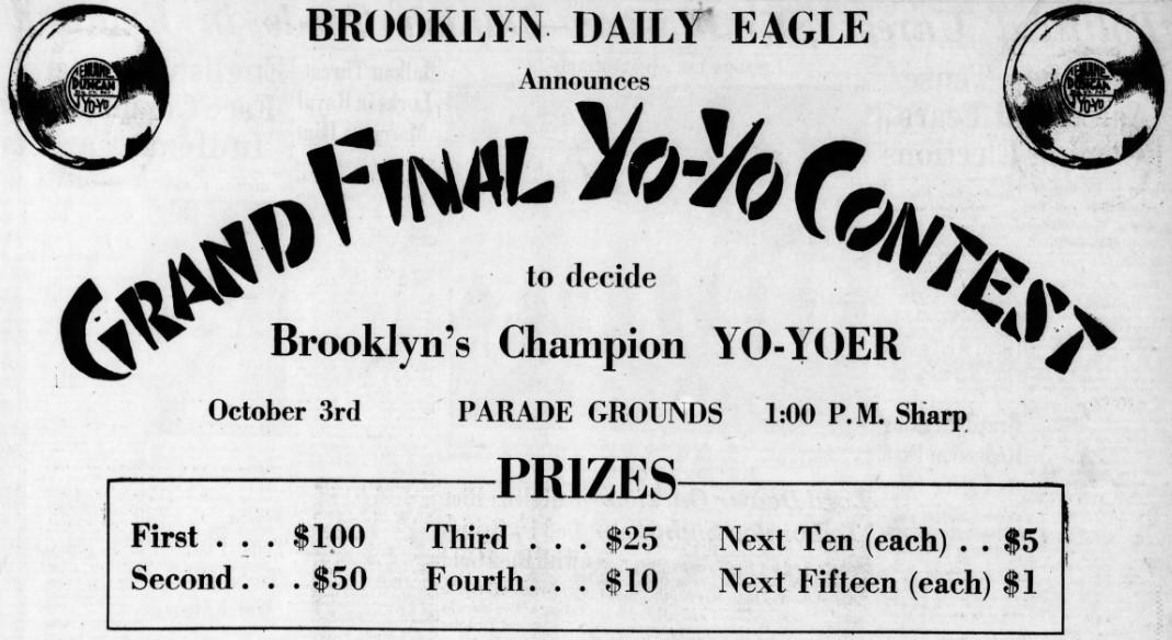 11_Brooklyn Daily Eagle_1931_09_27_p68_Yo-Yo_Wettbewerb_Medienpartnerschaft