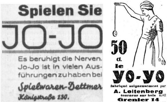 22_Altonaer Nachrichten_1932_09_21_Nr233_p4_La Sentinelle_1932_10_06_Nr232_p3_Jo-Jo_Werbung