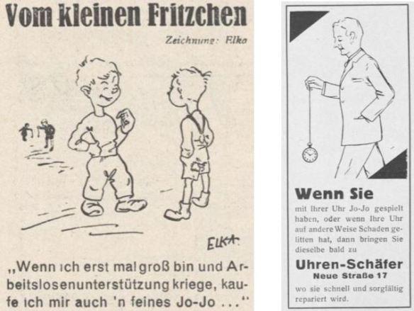 23_Der Arbeiter-Fotograf_7_1933_p21_Deutsche Uhrmacher-Zeitung_57_1933_p343_Jo-Jo_Werbung